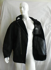 VINTAGE AZZEDINE ALAIA MENS LEATHER SHEARLING JACKET PARIS EXTREMELY RARE