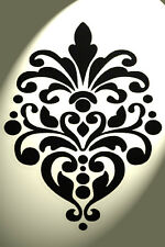 Vintage damask stencil Shabby Chic Rustic Mylar style A4 297x210mm design 3 wall
