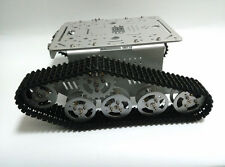 New DIY T300 Tank Track Caterpillar Car Chassis Metal Tracked Crawler Robotic