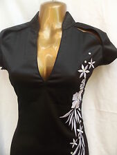 LATEST DESIGN Oriental Chinese Black Silver dress 16