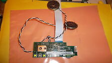 Used Tecra 8000 led status board power charge volume,incl speakers ribbon cable