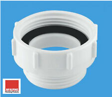 """McAlpine T12 Waste Outlet Reducer 1-1/2"""" to 1-1/4"""" BSP Female to Male Coupler"""