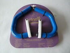 Cinelli spinaci handlebar extensions blue white for Vintage Road Bicycle NOS
