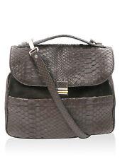 Proenza Schouler Brown  Kent Suede Python Satchel Handbag