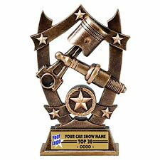 THREE DIMENSIONAL SPARK PLUG CAR SHOW TROPHY RESIN AWARD RACING
