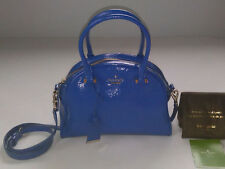 Kate Spade New York Cedar Street Patent Leather Small Pearl Satchel Blue Orbit