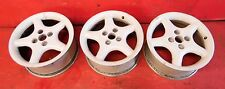 "89-94 Nissan 240sx S13 OEM 5 spoke star wheels rims STOCK factory 16"" white x3"