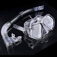 Adult Snorkel Mask Pink Anti-Fog Scuba Masks Purge Valves Diving Goggles Set