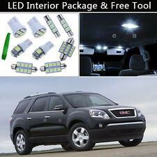 13PCS Xenon White LED Interior Lights Package kit Fit 2007-2012 GMC Acadia J1