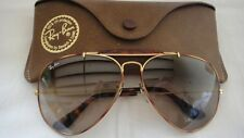 VINTAGE RAY BAN TORTUGA OUTDOORSMAN BROWN 62MM SUNGLASSES B&L US
