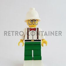 LEGO Minifigures - 1x adv006 adv040 - Dr. Charles Lightning - Adventurers Omino