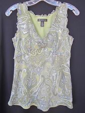"""INC."" International Concepts Casual Summer Top Sleeveless Paisley Design Size 8"