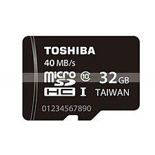Toshiba Micro SD HC 32GB 32G 40MB/SEC Class 10 C10 U1 UHS1 Flash Memory Card New