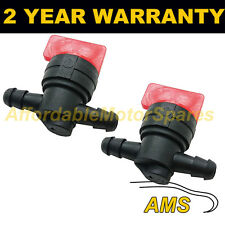 2X FUEL DIESEL PETROL SHUT/CUT OFF STOP VALVE 6MM IN OUT QUAD BIKE IMMOBILISER