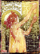 ABSINTHE ROBERT FRENCH METAL SIGN 8x10in pub bar shop cafe art deco games room