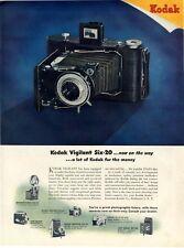 1946 Kodak Vigilant Six-20 Camera plus 6-models  PRINT AD