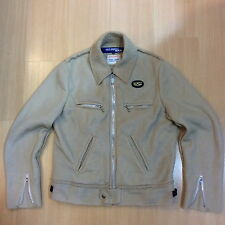 COMME DES GARCONS JUNYA WATANABE MAN LEWIS LEATHERS RAW EDGE WOOL MOTOCYCLE JKT