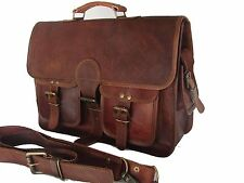 Men  genuine Leather Bag Business Messenger Laptop Shoulder Briefcase Handbag