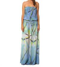 Gypsy05 Eos Printed Silk Tube Maxi Dress LAVENDER Sz XS $275 NWT W413-2512-15