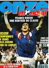 B1- Onze Mondial N°54 France Russie,Om Champion,Copa Libertadores