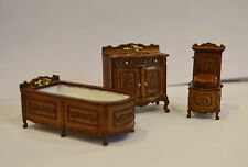 Dollhouse 1/24 Half Scale Furniture H23052WN 3 pc.Bathroom Set