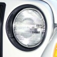JEEP WRANGLER TJ 1997 - 2006 BLACK HEADLIGHT BEZELS  PAIR