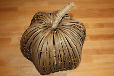 New Pottery Barn Natural Vine Pumpkin Fall Decor with tag