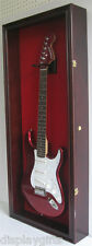 Electric Guitar Display Case Wall Frame Cabinet  Wood Box, GTAR2(RED)-MA