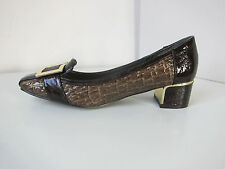 Pilar Abril Pumps Lackpumps braun Gr. 37 lack patent shoes brown