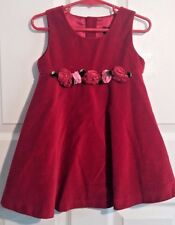 Girls Children's Place Sleeveless Red Velvet Holiday dress Size 36 M (3T)  #679