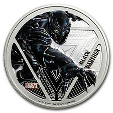 "2016 Fiji Proof Silver ""Captain America: Civil War"" Black Panther - SKU #97886"