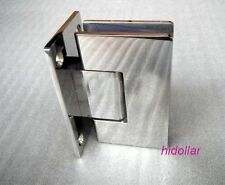 NEW STAINLESS CHROME FRAMELESS SHOWER SCREEN GLASS HINGE SHOWERSCREEN HOLDER 90