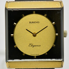 Auth RADO ELEGANCE 396.3023.2 Hand-winding Gold Dial Men's Watch #4537