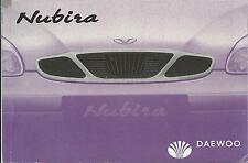 DAEWOO   NUBIRA   J150   Betriebsanleitung  1999   Bedienungsanleitung   BA