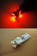 Rojo 2x 8 Smd Led Can Bus Blanco sidelight reposapiés bombillas T10 W5w sistema de alerta