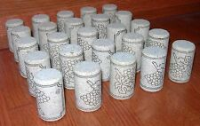WINE CORKS 25 #8 NEW FIRST QUALITY NATURAL AGGLO CORK #8x1.5 for WINE BOTTLES