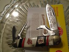 Kissing Crane Limited Alpha Omega Scout Hobo 4 Blade Pocket Knife Bottle Opener