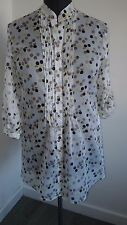 BNWT Woman's blouse from Steilmann Size 12 Spotty, white, brown 3/4 sleeves