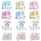 5Pcs/Set Organic Newborn Outfits 0-3 Months Baby Boys Girl Top Pant Bibs Clothes