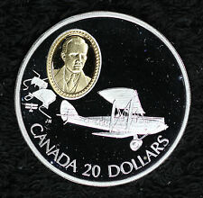 Beautiful 1992 Canada Gypsy Moth $20 Proof Commemorative Silver Coin