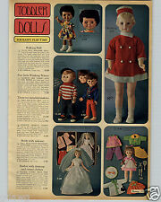 "1968 PAPER AD 36"" Walking Doll Herby Hippy Dolls Winking Winny Black Grow Tooth"