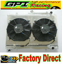 52MM Aluminum Radiator +shroud+fan for Nissan Skyline R33 R34 GTR GTST RB25DET