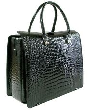 RAPHAEL Crocodile Briefcase Laptop Pilot CASE 43 cm  Business Portfolio -  ITALY