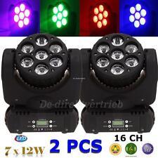 2x OSRAM Moving Head Bühnenbeleuchtung Licht 84W RGBW LED Lichter DMX DJ Light