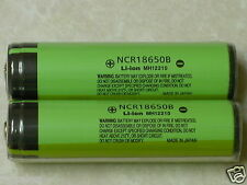2 PANASONIC NCR18650B LI-ION BATTERY 3400mAh 3.7v 18650 NEW PROTECTION PCB JAPAN