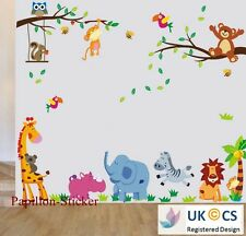 Jungle Animal/Teddy Bear/Owl Kid Nursery Baby Wall Sticker Decal Decor Art