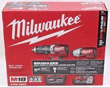 Milwaukee M18 Red Lithium XC4.0/2.0 BRUSHLESS HammerDrill Impact Driver SHIPPED