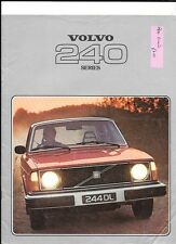 VOLVO  244 DL, 245 DL, 245 GL AND 244 GL SALOONS AND ESTATES SALES BROCHURE 1978