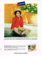 PUBLICITE ADVERTISING 035  1998  JACADI   vetements enfants filles