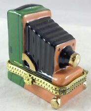 Miniature Antique Foldable Tintype Daguerreotype Camera Shaped Mini Trinket Box